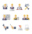 Engineer icons vector image vector image