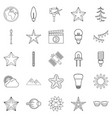 flash icons set outline style vector image vector image