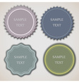 Four vintage labels vector image vector image