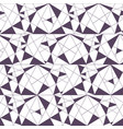 geometric seamless black and white pattern with vector image vector image