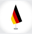 germany flag on white background vector image