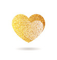 gold glitter heart valentine day banner card vector image