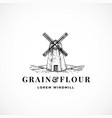 grain and flour abstract sign symbol or vector image vector image