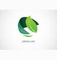 green world logo and icon concept design vector image