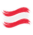 grunge brush stroke with national flag of austria vector image