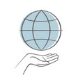 hand holding earth save earth concept vector image vector image