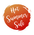 hot summers sale grunge style red colored on vector image