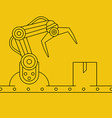 Industrial manipulator or mechanical robot arm vector image vector image
