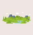 info graphic and elements of forest with hills vector image vector image