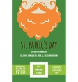leprechaun or Irish man with mustache and beard vector image vector image