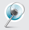 Magnifying Glass with Blue Eye vector image