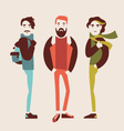 man in fashion clothes vector image vector image