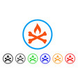 mortal ignition rounded icon vector image vector image