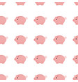 pink piggy bank seamless pattern piggy bank on vector image