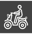 Riding Scooter vector image