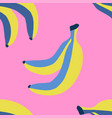 seamless pattern with banana in sketch style vector image vector image