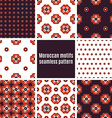 Set of Arabic seamless patterns vector image