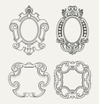 Set of vintage frames design elements vector image vector image