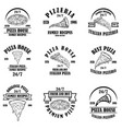 set pizza house emblems pizzeria labels design vector image