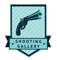 Shooting Gallery Lable vector image