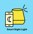 smart night light vector image vector image