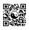 smartphone readable qr code with yin yang symbol vector image