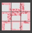 social media posts puzzle template vector image