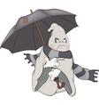 Spirit and an umbrellaCartoon vector image vector image