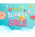 summer 2020 sale banner wih hot season elements vector image vector image