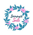 summer sale template for seasonal discounts vector image vector image