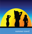 summer travel with girl vector image vector image