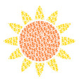 sun composition of dollar and dots vector image vector image