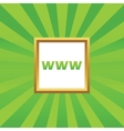 WWW picture icon vector image vector image