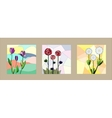 Set of floral cards vector image