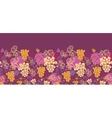 Sweet grape vines horizontal seamless pattern vector image