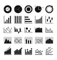 chart diagram icon set simple style vector image