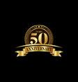 50th years anniversary logo template design