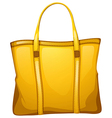 A yellow leather bag vector image vector image
