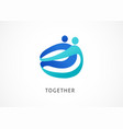 abstract people symbol togetherness and community vector image
