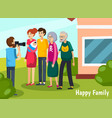 aged elderly people flat composition vector image