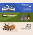 arab emirates uae travel tourism landmarks vector image