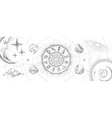 astrology wheel with zodiac signs vector image vector image