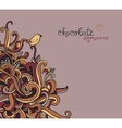 background with abstract curls vector image vector image