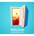 Beautiful world door vector image