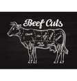 beef cuts template menu design for restaurant or vector image vector image