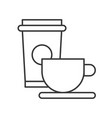 beverage coffee and tea cup food outline icon vector image