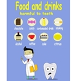 Cartoon infographic about food and drink damage vector image vector image