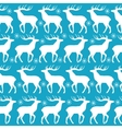 Christmas seamless pattern with white deers vector image vector image