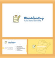 clipboard logo design with tagline front and vector image vector image