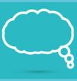 cloud speech icon vector image vector image